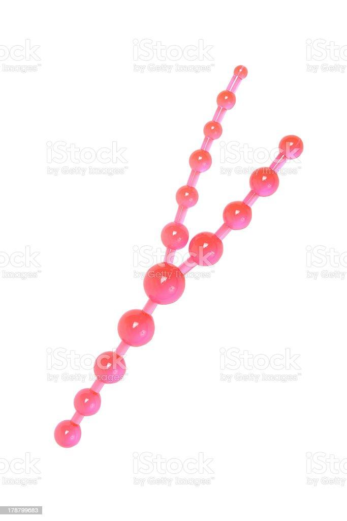 Rosa anale-sesso giocattolo perline - foto stock