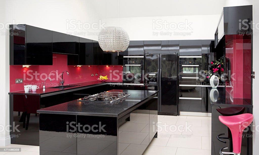 Pink Und Schwarz Küche Stockfoto und mehr Bilder von ...