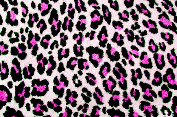 Pink and black leopard pattern. stock photo