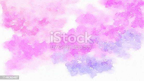 832048182 istock photo Pink and Blue abstract art painted background 1146065487