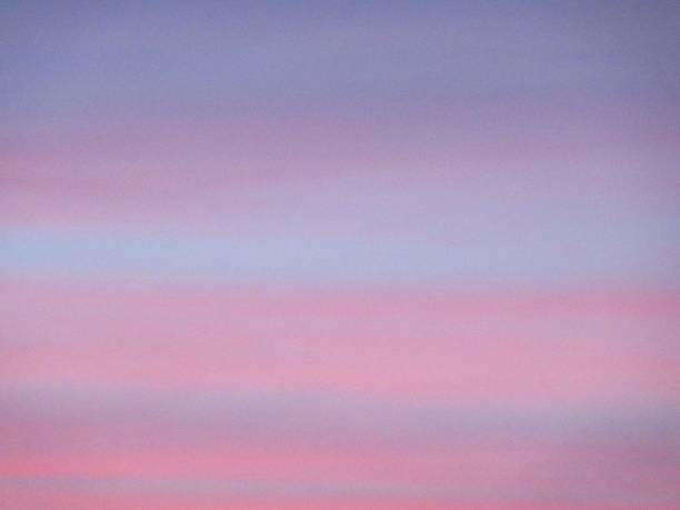 Pink and Blue Summer Sky at Sunset stock photo