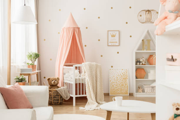Rosa und gold Babyzimmer – Foto