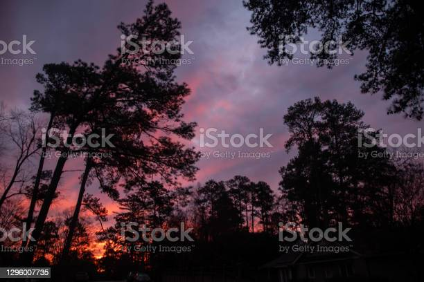 Photo of Pink and purple clouds just before sunrise