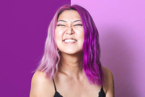 Pink and Purple Portrait – zdjęcie