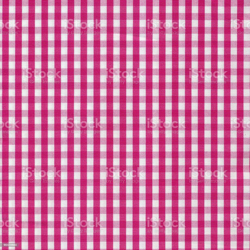 ... Pink And White Gingham Tablecloth Pattern Stock Photo ...