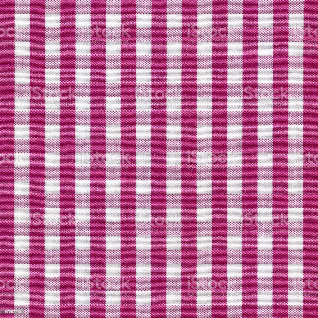 Pink and White Gingham Tablecloth Pattern royalty-free stock photo