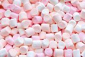 ピンクと白のミニマシュマロ