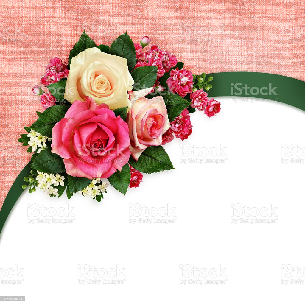 Pink And White Rose Flowers Arrangement Stock Photo 576909548 Istock