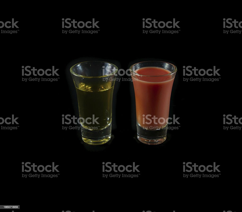 pink and yellow water royalty-free stock photo