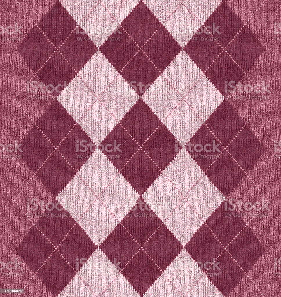 Pink argyle pattern fabric stock photo