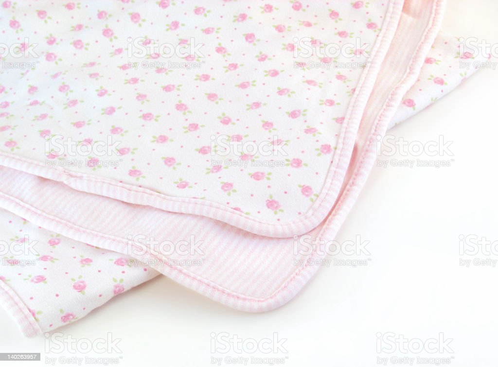 Pink Baby Blanket stock photo
