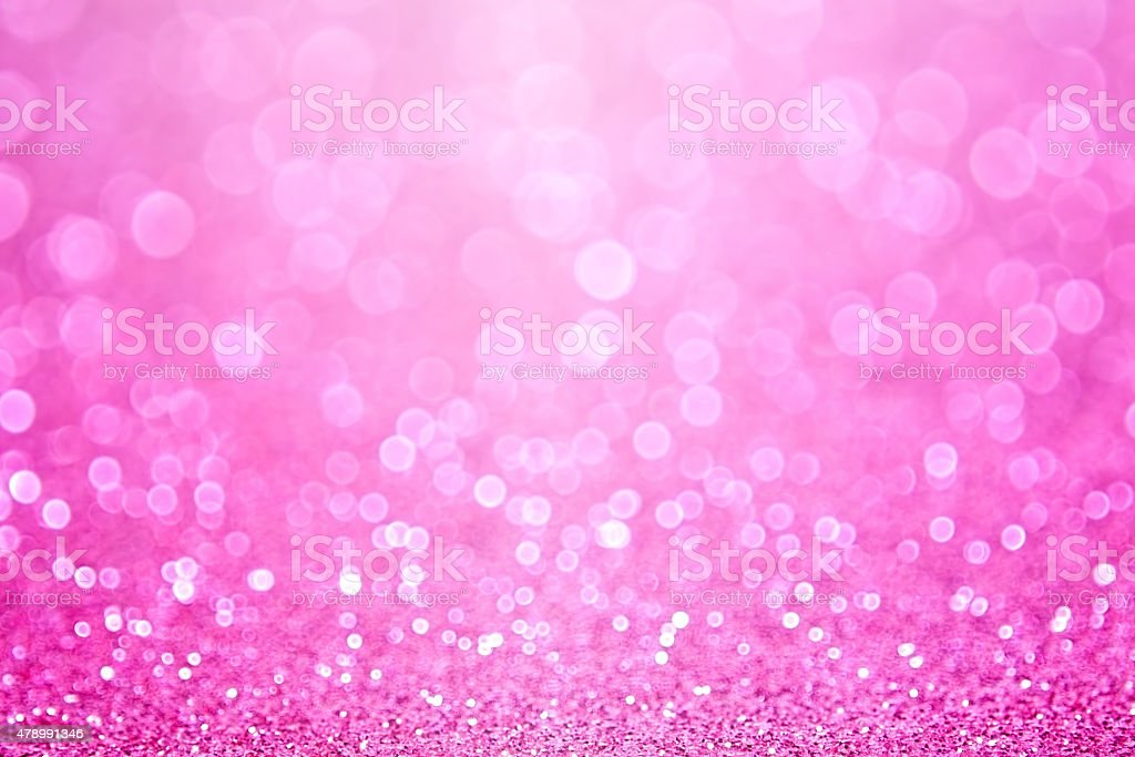 Abstract pink baby girl birthday or baby shower glitter sparkle...
