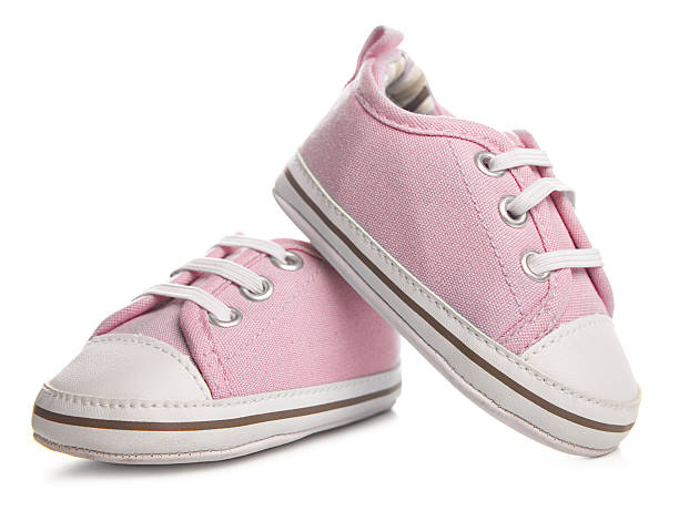 Pink Baby Shoe stock photo
