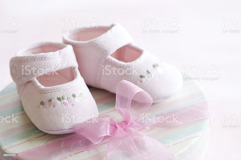 Pink baby shoes royalty-free stock photo