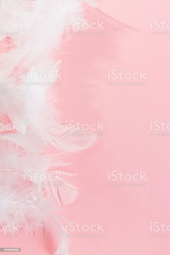 Pink Background with Fluffy feathers Pink Background with Fluffy feathers Art Stock Photo