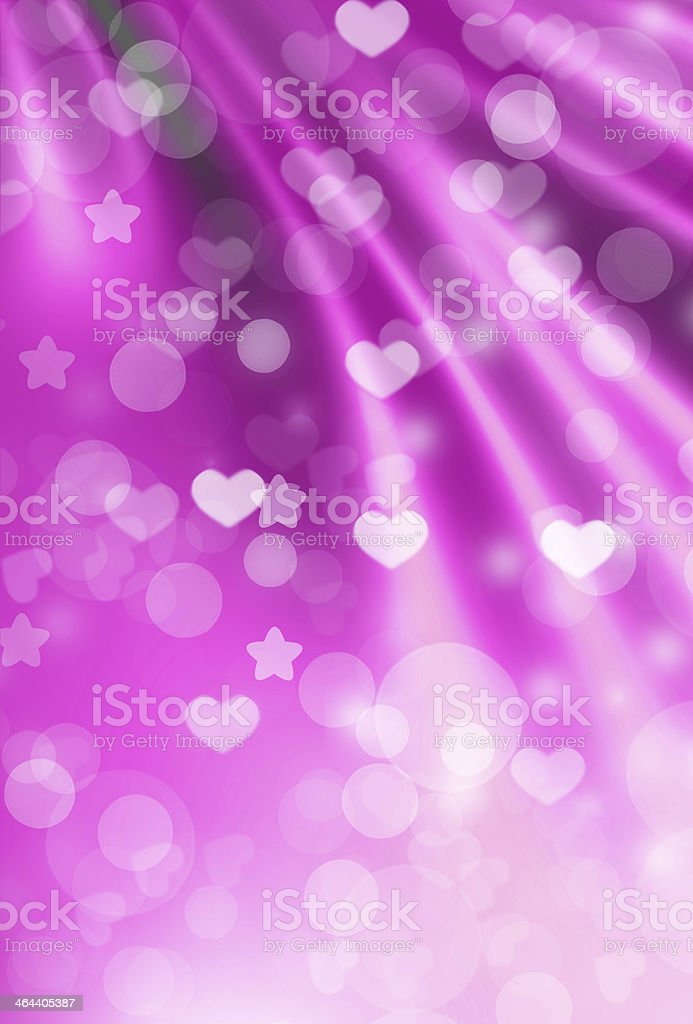 Pink background with hearts stock photo