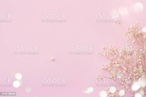 Pink background with small white flowers and bokeh with copy space picture id916738656?b=1&k=6&m=916738656&s=612x612&h=uxtnkokgld d8v imaypqg1df9zcz5zmy6vh w1hfn8=
