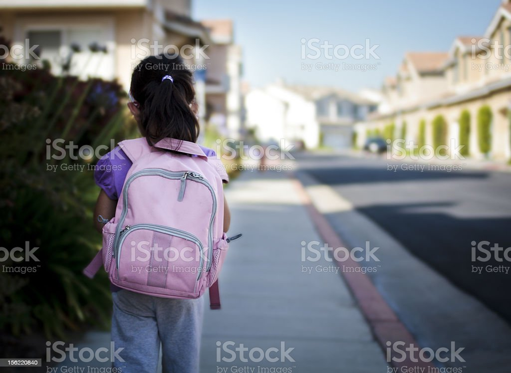 Pink Backpack stock photo