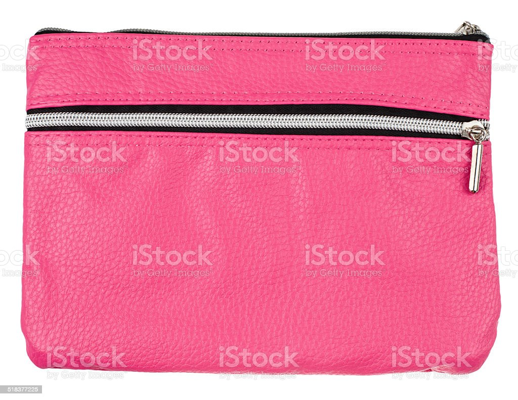 pink bag isolated on white background stock photo