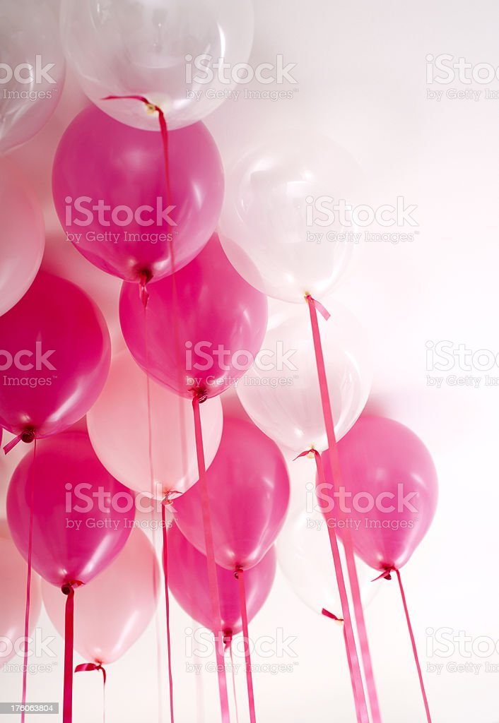 Pink Balloons royalty-free stock photo