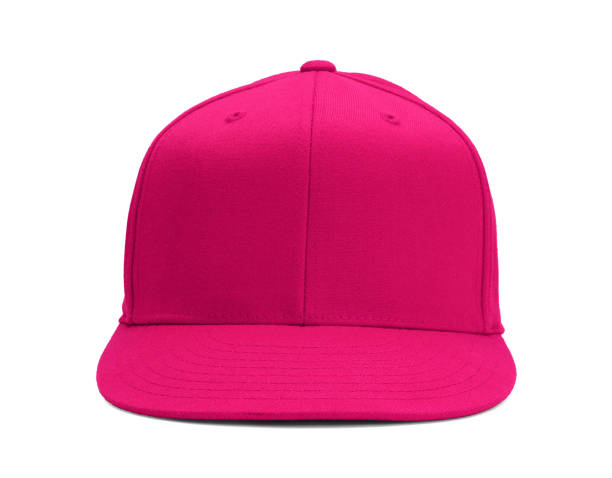 pink baseball hat - helmet visor stock photos and pictures