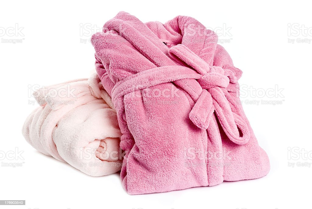 Pink Bathrobes stock photo