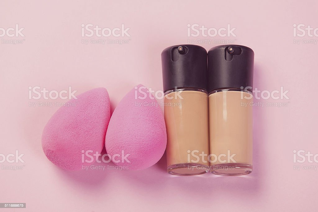 Pink beauty blenders stock photo