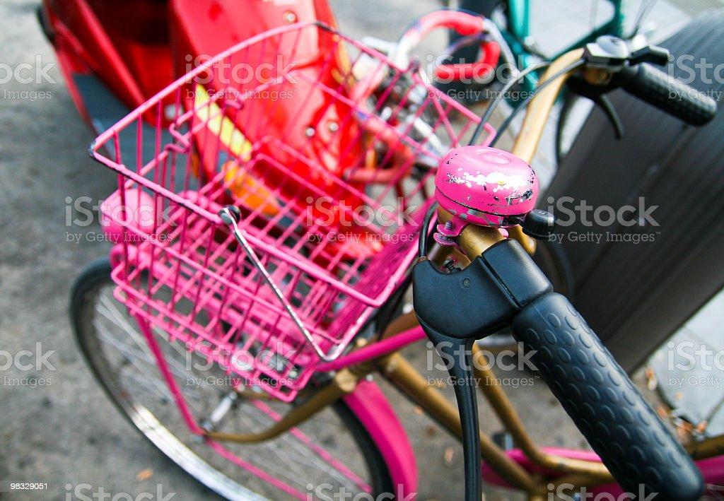 Pink bicycle royalty-free stock photo