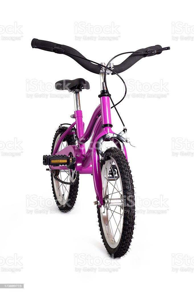Pink Bicycle w/Full Clipping path royalty-free stock photo