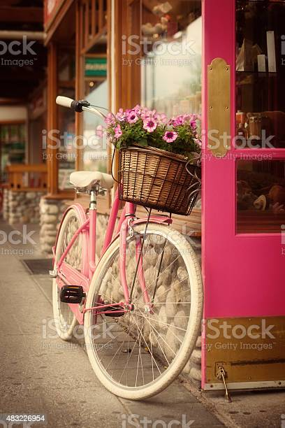 Pink bicycle with flower basket in front of a pink door picture id483226954?b=1&k=6&m=483226954&s=612x612&h= vsfsepatwk3cvvckkoifcsx4e2qdil2emo5mjwvrly=