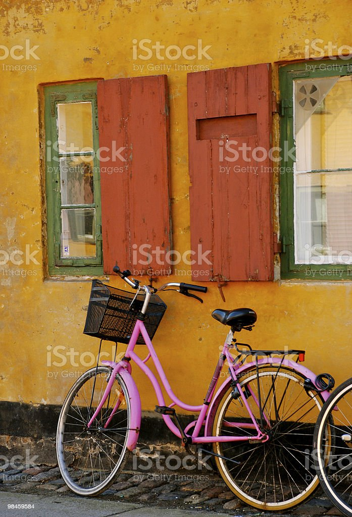 Pink bike royalty-free stock photo