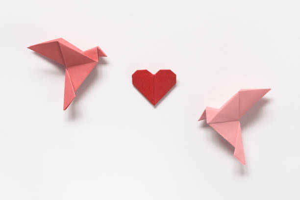 Pink birds and red heart of origami on white background gift card for picture id806290466?b=1&k=6&m=806290466&s=612x612&w=0&h=mtfbjy817w9ocrbf8dvoocoichpib6q11zb0iquzyvs=