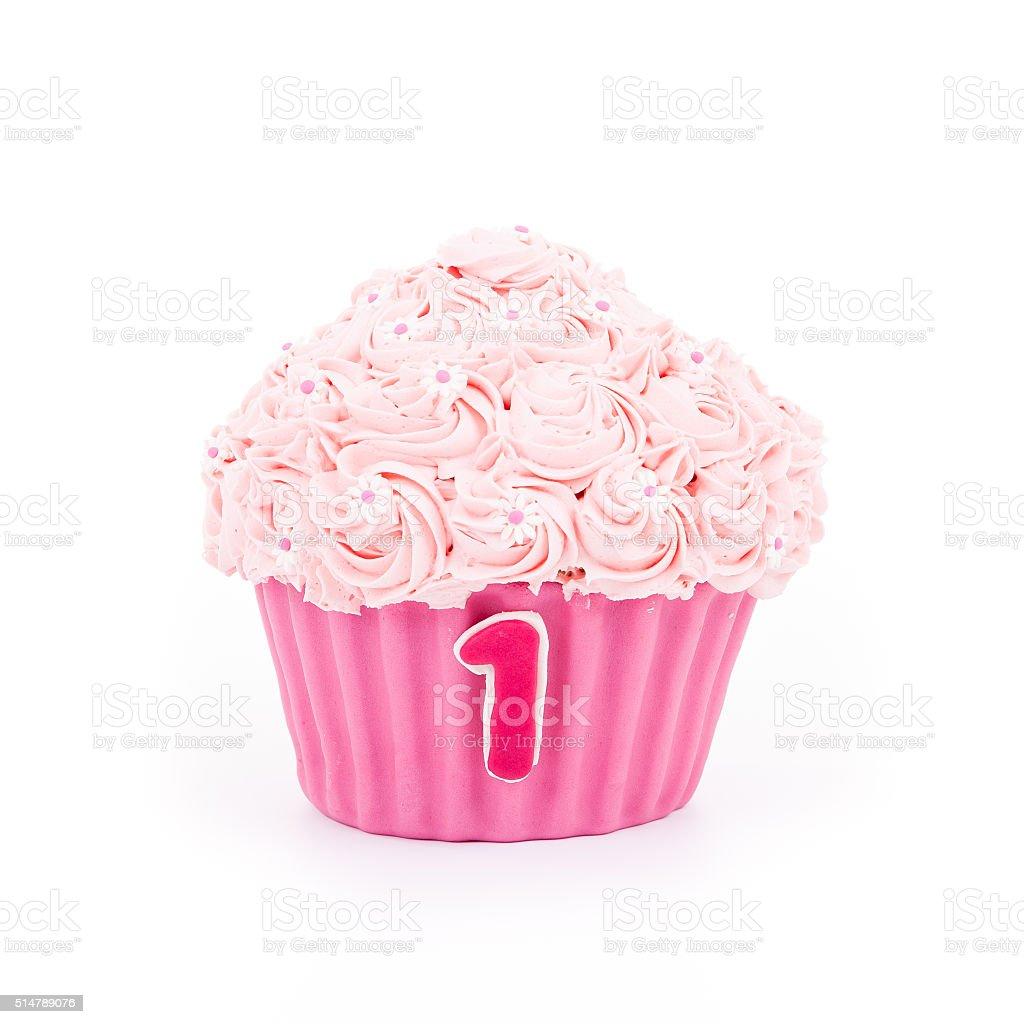Strange Pink Birthday Cake For One Year Old Child Stock Photo Download Funny Birthday Cards Online Inifofree Goldxyz