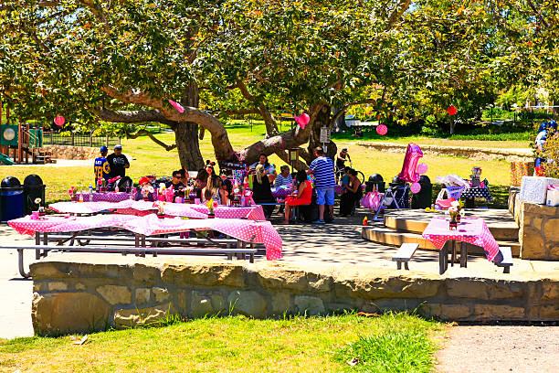 Cтоковое фото Розовый день рождения в парке в Санта-Барбару, Калифорния