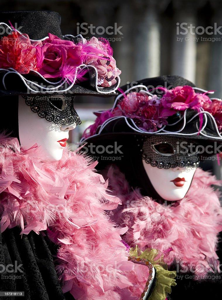 Pink & Black Costume. royalty-free stock photo