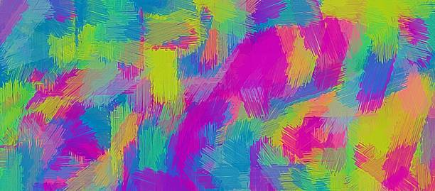 pink blue and yellow painting texture stock photo