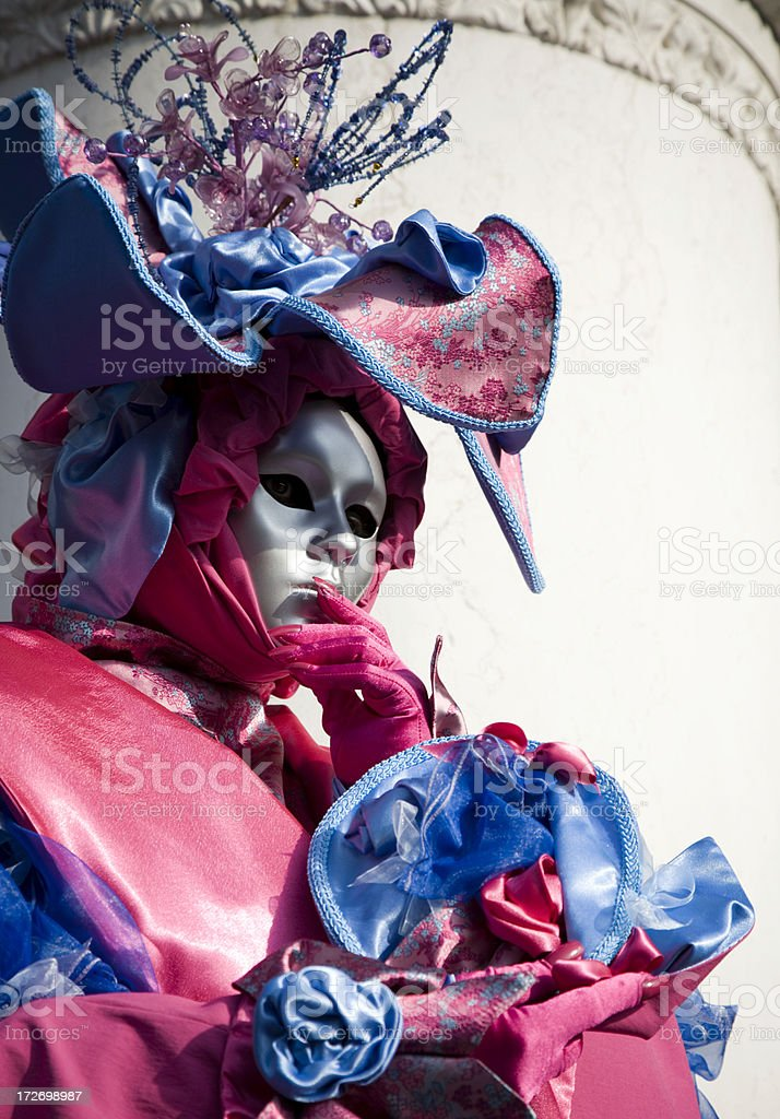 Pink & Blue in Venice.... royalty-free stock photo