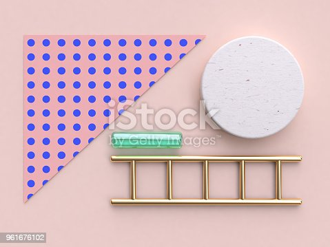 istock pink blue pattern gold green glass clear abstract geometric flat lay background 3d rendering 961676102