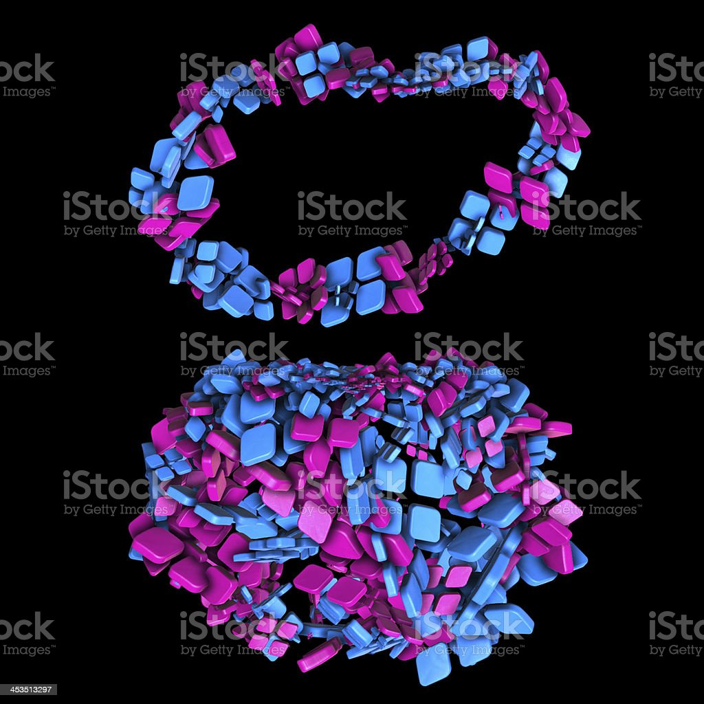 Pink & Blue pills royalty-free stock photo