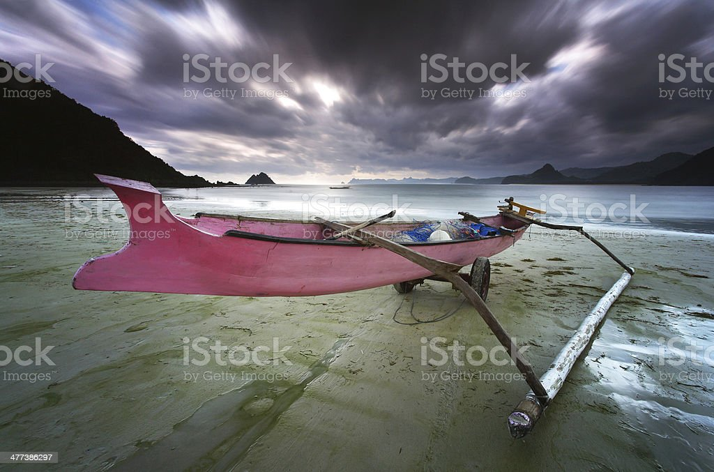 Pink Boat stock photo