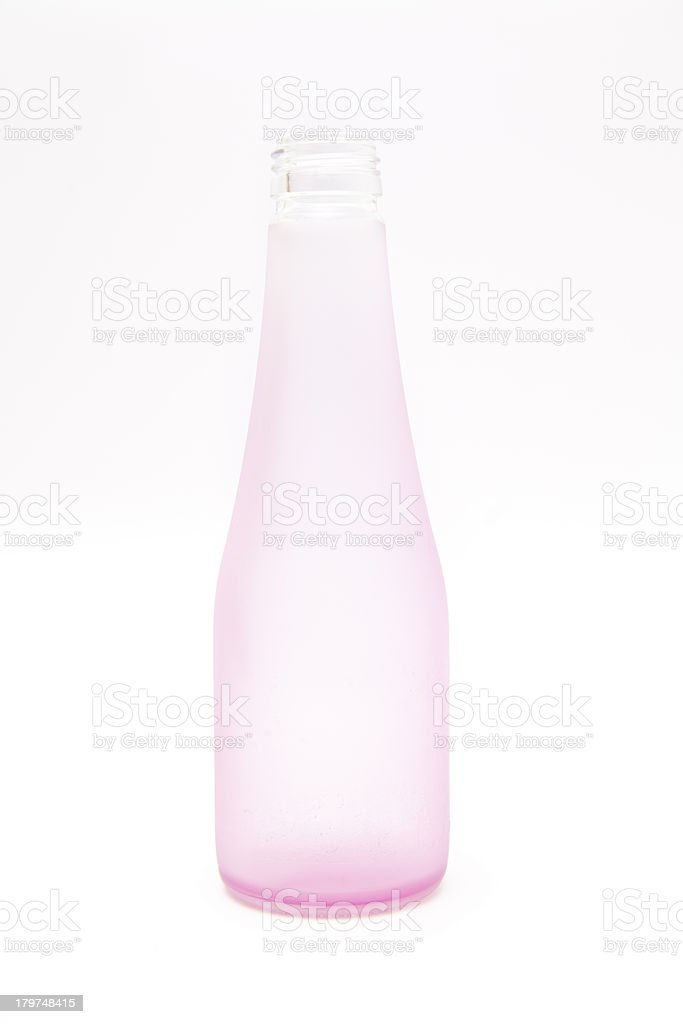Pink bottle royalty-free stock photo