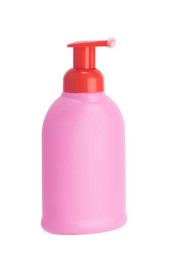 istock pink bottle with dispenser for liquid soap, isolated on white 1082868336