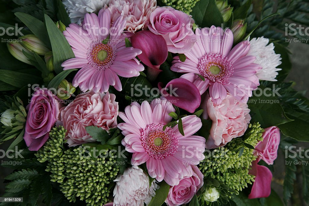 Pink bouquet. royalty-free stock photo