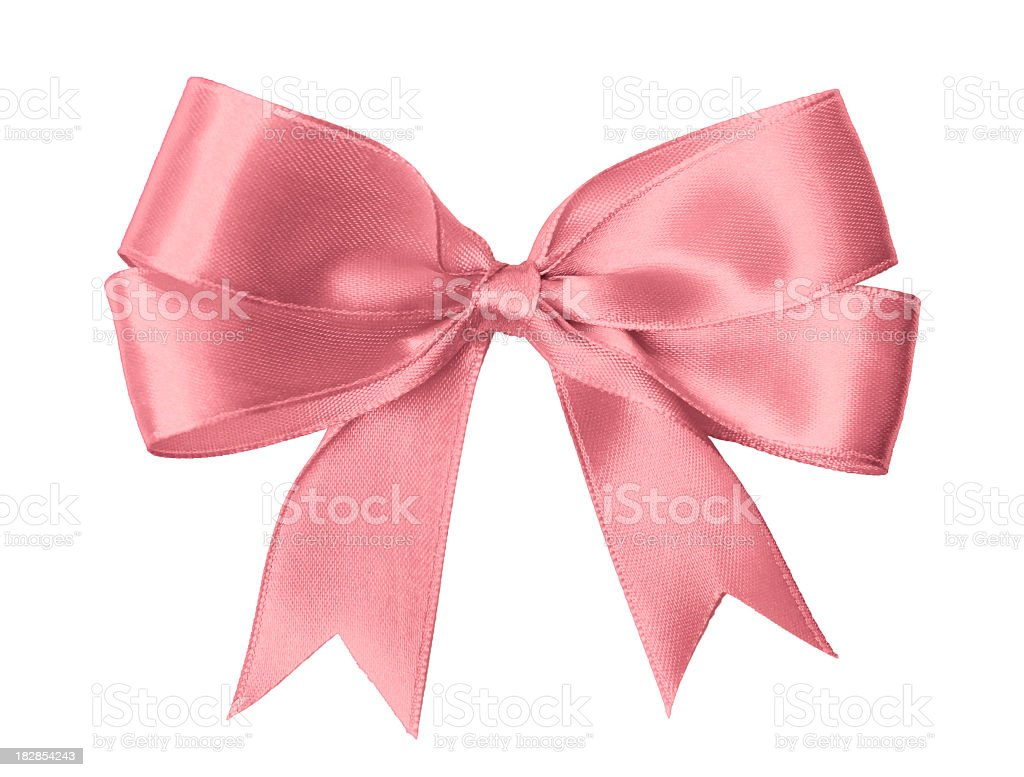 pink  bow royalty-free stock photo