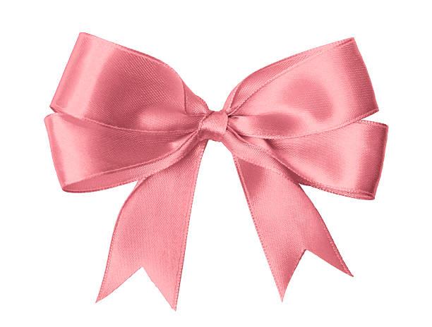 rosa schleife - geschenkschleife stock-fotos und bilder