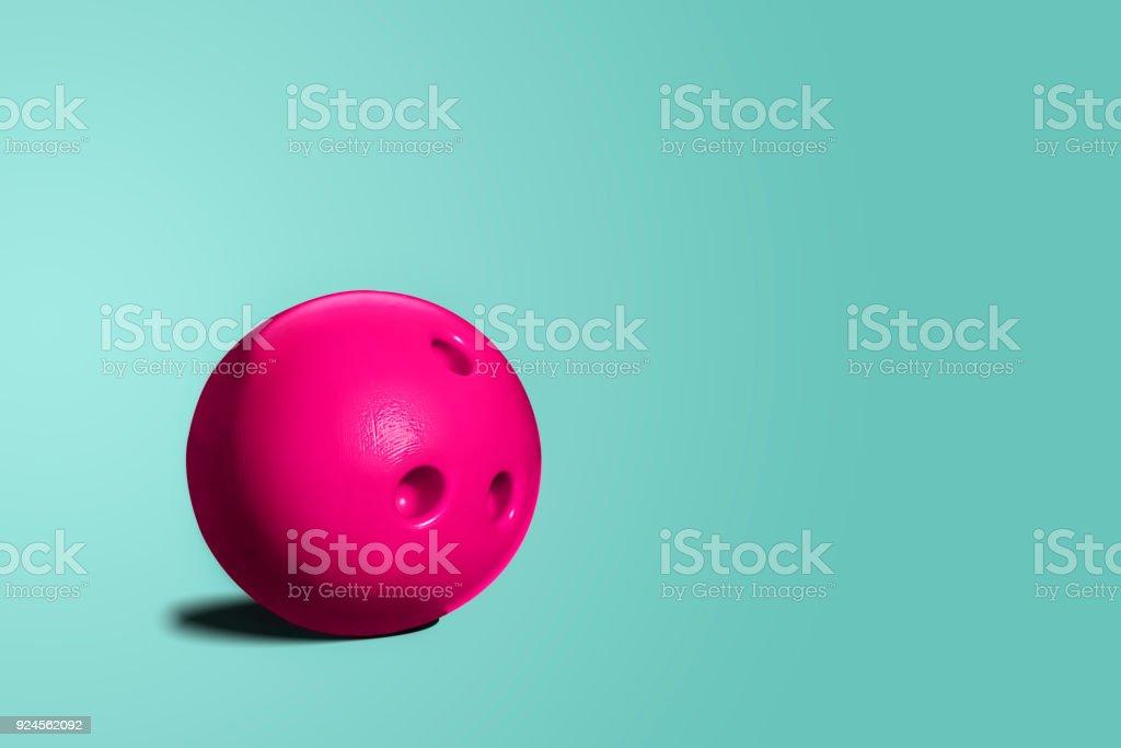 Pink bowling ball. stock photo