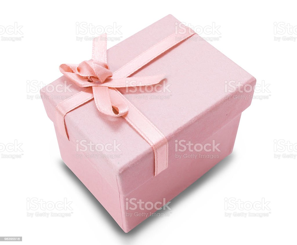 Pink box royalty-free stock photo