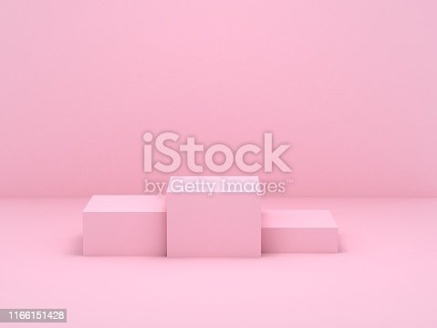 istock pink box podium 1166151428