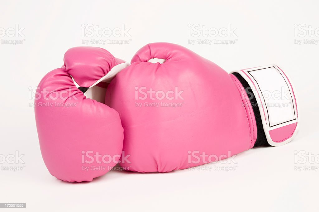 Pink Boxing Gloves royalty-free stock photo