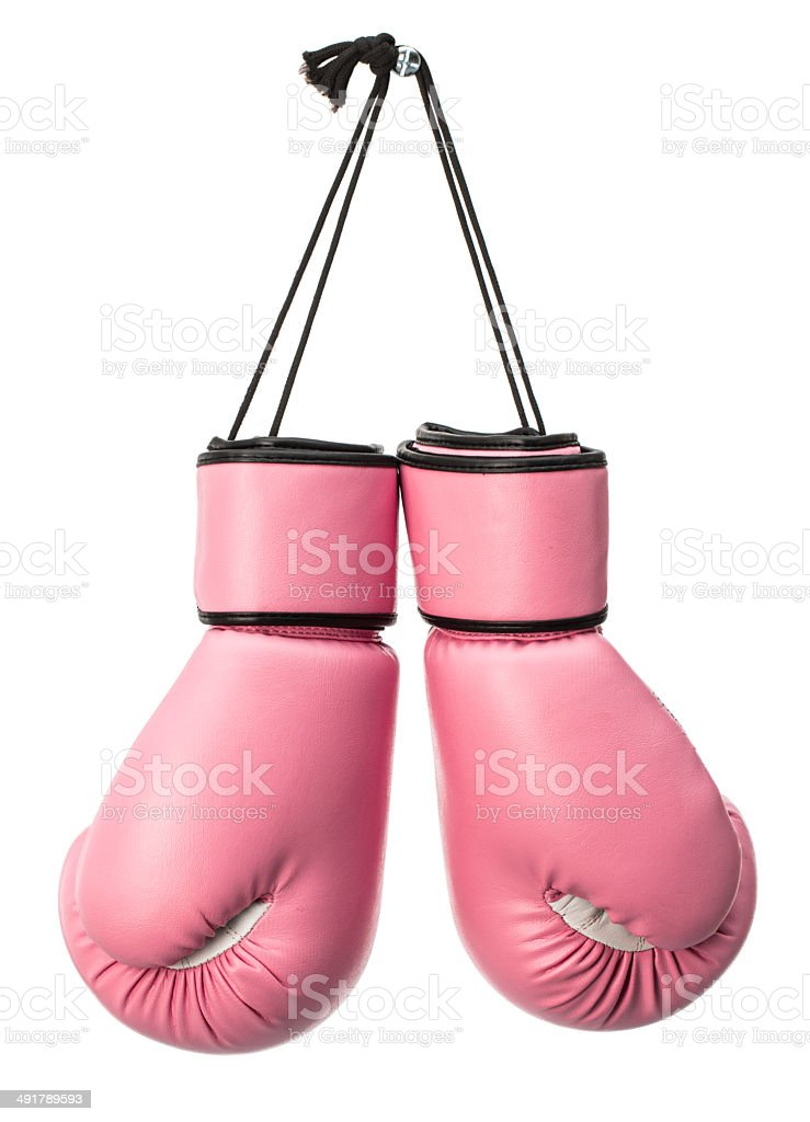 Pink boxing gloves stock photo more pictures of boxing sport pink boxing gloves royalty free stock photo sciox Gallery